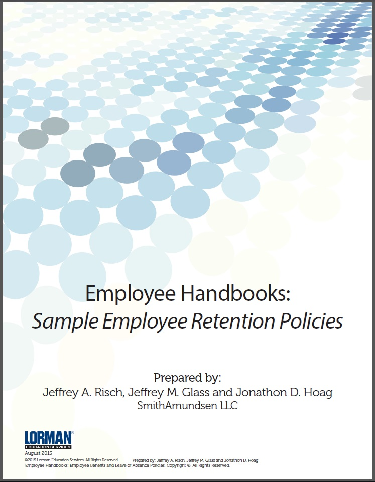 Employee Handbooks: Sample Employee Retention Policies