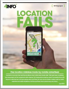 Five Location Mistakes Made by Mobile Advertisers